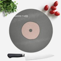 Pink Record Round Chopping Board