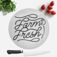 Farm Fresh Round Chopping Board - Farm Gifts