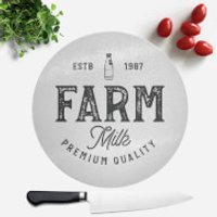 Farm Milk Premium Quality Round Chopping Board - Farm Gifts