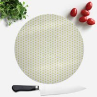 Lime Green Polka Dot Round Chopping Board - Lime Green Gifts