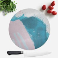 Wish Wash With Blue Stripes Round Chopping Board - Wish Gifts