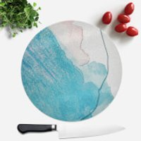 Wish Wash With Blue Line Round Chopping Board - Wish Gifts