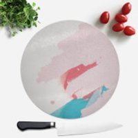 Wish Wash With Pink Scribble Round Chopping Board - Wish Gifts