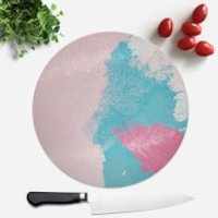 Wish Wash With Pink Blob Round Chopping Board - Wish Gifts