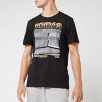 adidas Men's MH Photo Short Sleeve T-Shirt - Black - S - Black