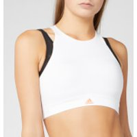 adidas Women's Halter 3.0 Bra - White - L - White