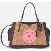 shop for Coach 1941 Women's Coated Canvas Signature Rexy by Yeti Out Dreamer 21 Bag - Tan Oxblood at Shopo