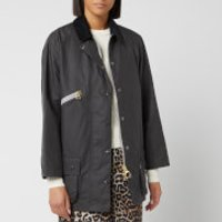 Barbour Womens Alexa Chung Edith Wax Jacket - Charcoal/Dress