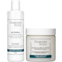 Christophe Robin Detangling Gelee and Cleansing Purifying Scrub with Sea Salt 250ml (Worth PS69.00)