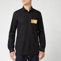 Versace Jeans Men's Long Sleeve Shirt - Nero - IT 52/XL - Black