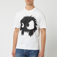 McQ Alexander McQueen Men's Screenprinted Monster Dropped Shoulder T-Shirt - Optic White/Black - L -