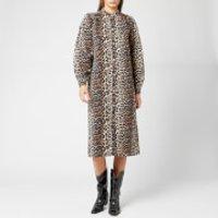 Ganni Women's Printed Shirt Dress - Leopard - EU 36/UK 8