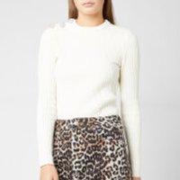 Ganni Women's Cotton Knitted Jumper - Egret - XS