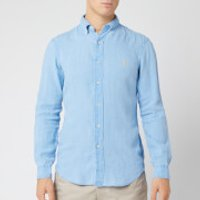 Polo Ralph Lauren Men's Slim Fit Linen Shirt - Riviera Blue - S - Blue