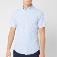 Polo Ralph Lauren Men's Seersucker Stripe Shirt - Blue/White - M - Blue