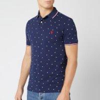 Polo Ralph Lauren Men's Mesh Polo Shirt - Tossed Stars - S - Blue