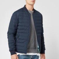 KENZO Men's Padded Reversible Jacket - Navy Blue - L - Blue