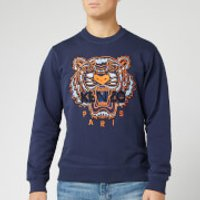 KENZO Men's Classic Tiger Embroidered Sweatshirt - Ink - XL - Blue