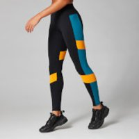 Image of Myprotein Power Colour Block Leggings - Black - XS