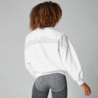 MP Colour Block Oversized Sweater - White - XL