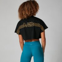 MP Branded Crop Top - Black - M