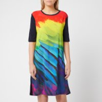 PS Paul Smith Women's Feather Print T-Dress - Multi - L