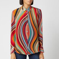 PS Paul Smith Women's Swirl Silk Shirt - Multi - IT 44/UK 12