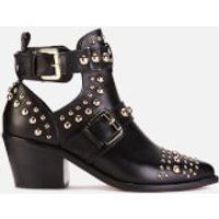 Kurt Geiger London Women's Sybil Leather Studded Ankle Boots - Black - UK 4 - Black