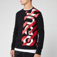 HUGO Men's Dosaka Chevon Sweatshirt - Black/Red - S - Black
