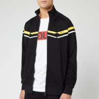HUGO Men's Duxi Chevron Zip Through Jacket - Black/Yellow - XL - Black
