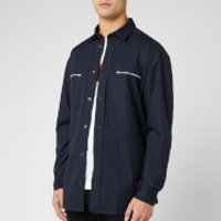 HUGO Men's Etrus Zip Overshirt - Navy - S - Blue