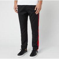 HUGO Men's Zander Drawstring Tape Pants - Black/Red - EU 48/M - Black