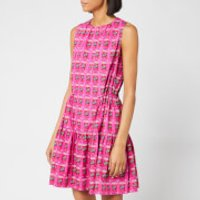 Kenzo Allover Flower Rice Bag Cotton Poplin Dress - Deep Fuschia