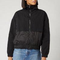 KENZO Women's Nylon Technical Outerwear Mix Jacket - Black - L - Black