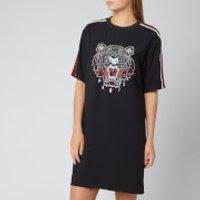 Kenzo Crepe Back Satin Tiger Dress - Black