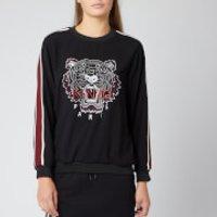 Kenzo Crepe Back Satin Tiger Sweatshirt - Black