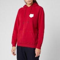 KENZO Women's Tiger Crest Cotton Moleton Hoodie - Cherry - L - Red