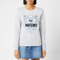 KENZO Women's Classic Tiger Light Moleton Sweatshirt - Pearl Grey - L - Grey