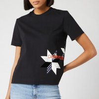 Calvin Klein Jeans Women's Institutional Quilt Slim Fit T-Shirt - CK Black - XS