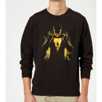 Shazam Lightning Silhouette Sweatshirt - Black - L - Black
