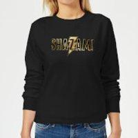 Shazam Gold Logo Women's Sweatshirt - Black - XS - Black