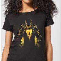 Shazam Lightning Silhouette Women's T-Shirt - Black - S - Black