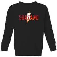 Shazam Logo Kids' Sweatshirt - Black - 7-8 Years - Black