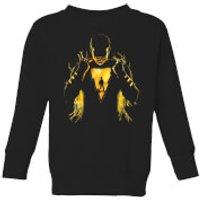 Shazam Lightning Silhouette Kids' Sweatshirt - Black - 9-10 Years - Black