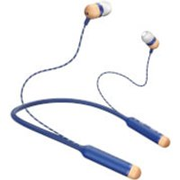 House Of Marley House of Marley Smile Jamaica Wireless Neckband In-Ear Headphones, Easy Bluetooth Pairing, Three Button Controls, Noise Isolating, Enhanced Battery Life, REGRIND Silicone Ear Gels - Denim
