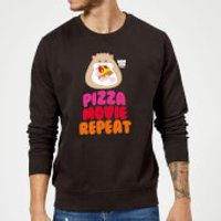 Hamsta Pizza Movie Repeat Logo Light Sweatshirt - Black - S - Black