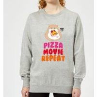 Hamsta Pizza Movie Repeat Women's Sweatshirt - Grey - M - Grey