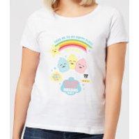 Hamsta Cotton Candy Dreams Womens T-Shirt - White - S - White