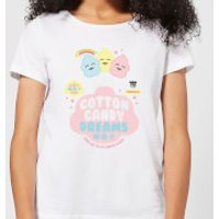 Hamsta Cotton Candy Dreams Bold Womens T-Shirt - White - S - White