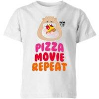 Hamsta Pizza Movie Repeat Kids' T-Shirt - White - 11-12 Years - White - Food Gifts